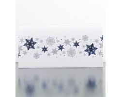 Otevírací novoročenka GL954 - bílá / modrá / stříbrná