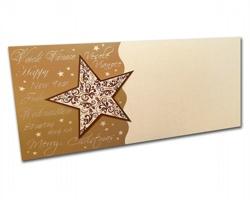 Novoroční PF karta PF805 - zlatá / hnědá