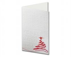 Otevírací novoročenka PF808 - bílá / červená