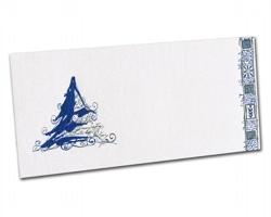 Novoroční PF karta PF812 - bílá / modrá / stříbrná