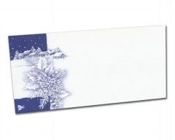 Novoroční PF karta PF817 - bílá / modrá