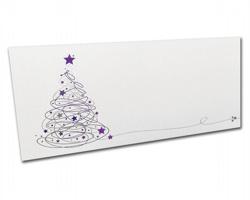 Novoroční PF karta PF834 - bílá / fialová