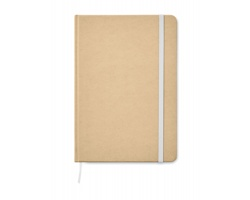 Nelinkovaný zápisník HIKER z recyklovaného kartonu, formát A5 - bílá