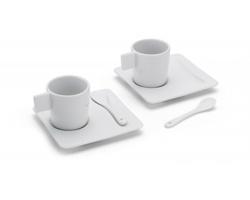 Keramická souprava na espresso SCALA - bílá