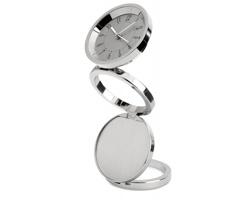 Skládácí stolní hodiny CLOCK - ocelově stříbrná/šedá