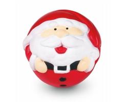 Antistresový míček FLAVIUS se vzorem Santa Clause - vícebarevné