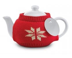 Keramická konvice SAMUAL s filtrem na čaj, 280ml - červená