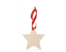 Dřevěná ozdoba VOLGA ve tvaru hvězdy - hnědá (dřevo)