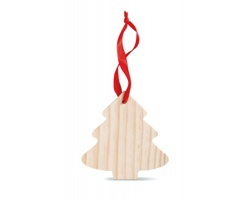 Dřevěná vánoční ozdoba LAVINIA ve tvaru stromku - hnědá (dřevo)