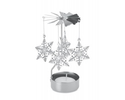 Tradiční vánoční zvonkohra ANGEL na jednu čajovou svíčku - stříbrná