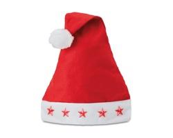 Vánoční party čepička SANTOS se svítícími hvězdami - červená