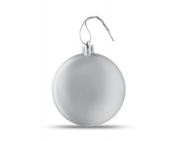 Vánoční ozdoba TRAGI s metalickým vzhledem - stříbrná