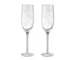 Sada dvou sklenic na sekt PIPET s motivem vloček - transparentní