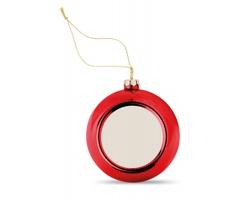 Vánoční ozdoba LITHE s plochou pro potisk - červená