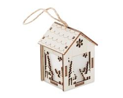 Vánoční domeček BINET se světlem - hnědá (dřevo)