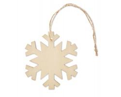 Dřevěná vánoční ozdoba SAGS ve tvaru vločky - hnědá (dřevo)