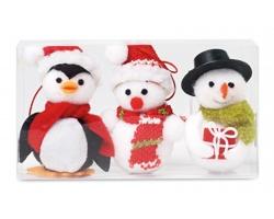 Sada vánočních postaviček TARO s poutky pro zavěšení - vícebarevná