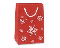 Papírová dárková taška PLENA s vánočním motivem - červená