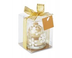 Skleněný vánoční svícen PERCEPT se třpytivou svíčkou - zlatá