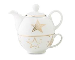 Keramická čajová souprava SAUCE, s konvičkou a hrnkem - vícebarevná