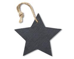 Břidlicová ozdoba NATUS tvaru hvězdy - černá