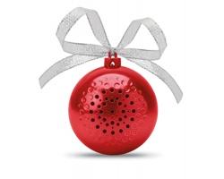 Vánoční bluetooth reproduktor COLE ozdoba na stromeček - červená