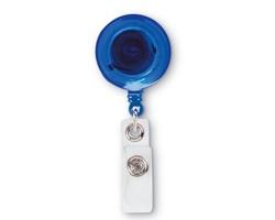 Plastový držák na jmenovku STACIA s klipem - modrá