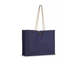 Jutová nákupní taška LESSIE s lanovými popruhy - fialová