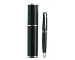 Kovové kuličkové pero LITERAL v pouzdru - černá