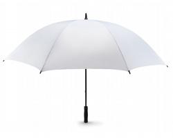 Větruodolný deštník BRET s pěnovou rukojetí, 8 panelů - bílá