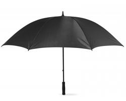 Větruodolný deštník BRET s pěnovou rukojetí, 8 panelů - černá