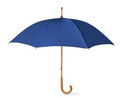 Deštník SONORA s dřevěnou rukojetí - modrá