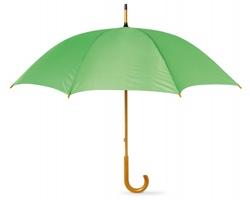 Deštník SONORA s dřevěnou rukojetí - limetková