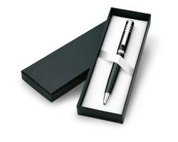 Kovové kuličkové pero BURL s klipem - černá
