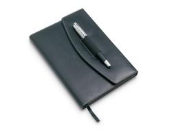 Konferenční zápisník EBON s deskami, formát A5 - černá
