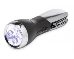 Multifunkční LED svítilna ZEBUS se sadou nářadí - černá