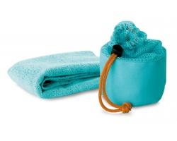 Sportovní ručník ALBANY s pouzdrem - modrá