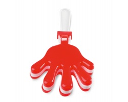 Plastové fandítko ve tvaru dlaně SCATS - červená