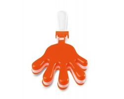 Plastové fandítko ve tvaru dlaně SCATS - oranžová
