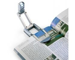 Plastové LED světlo na čtení ALGAS - stříbrná