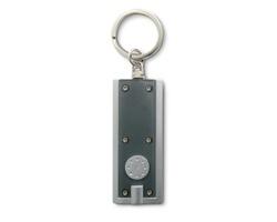 Plastová LED svítilna MARILU s kroužkem na klíče - transparentní šedá