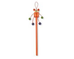 Dřevěná tužka WENDY s figurkou - oranžová