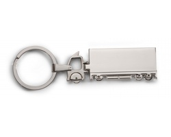 Kovový přívěšek na klíče KENTON ve tvaru auta - stříbrná