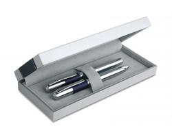 Vysoce kvalitní psací sada SNAG s kuličkovým perem a rollerem - modrá