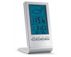 Plastová meteostanice s LCD displejem BRYCE - stříbrná