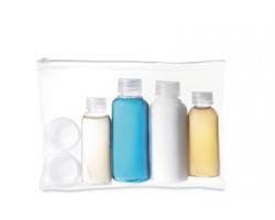 Cestovní lahvičky KEIRA s pouzdrem - transparentní