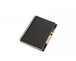Recyklovatelný zápisník FLICK s perem, formát A5 - černá