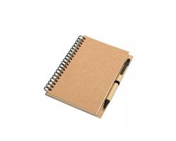 Recyklovatelný zápisník FLICK s perem, formát A5 - béžová