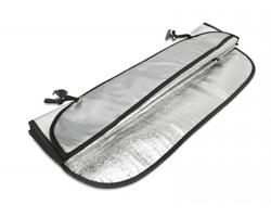 Sluneční clona GITA do auta - matně stříbrná