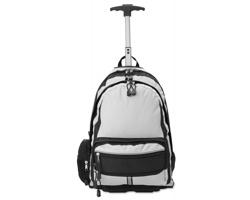 Polyesterový batoh na kolečkách RAINALD - stříbrná